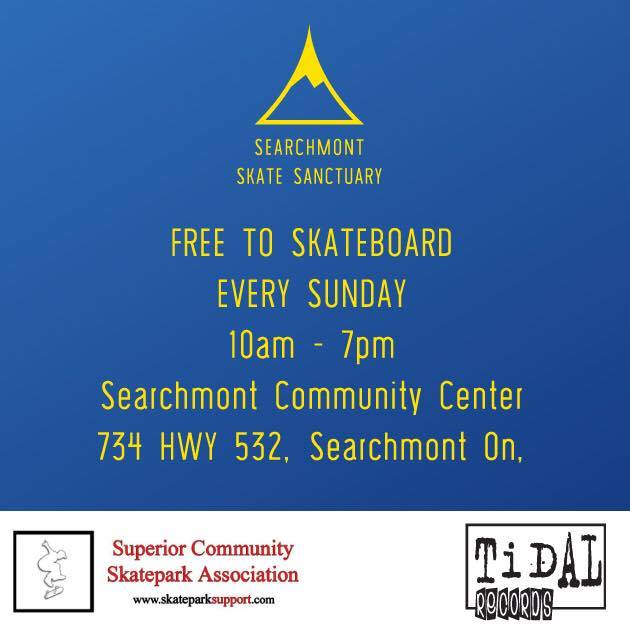 Skateboarding in Searchmont
